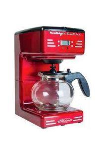 Cafeteira Elétrica Nostalgia Retro, Vermelho, Rcof120, Capacidade Para 12 Xícaras, 110V