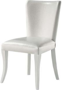 Cadeira Nazare Com Puxador Pe Laca Branco Brilho - 37393 Sun House