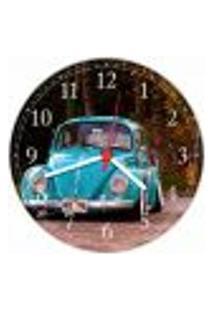 Relógio De Parede Fusca Vintage Retrô Carro Decorações Salas Quartos