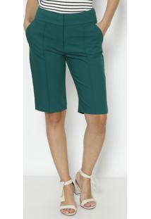Bermuda Lisa Com Nesgas- Verde Escurodudalina