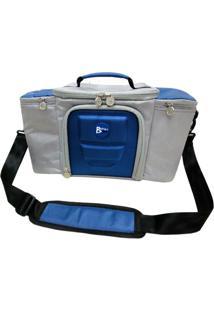 Bolsa Térmica Para Alimentos 42X23X27 Cm Batiki Dz-141580 Azul E Cinza