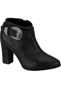 Ankle Boots Feminina Beira Rio Fivela Preto
