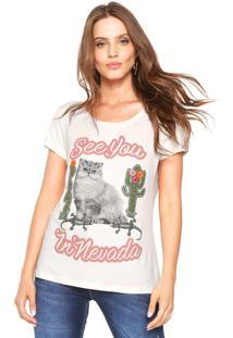 Camiseta Carmim Nevada Bege