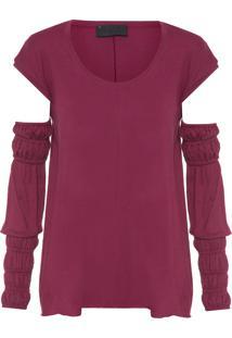 Camiseta Feminina Inglaterra - Vinho