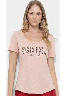 Camiseta T-Shirt Colcci Estampa Eco Soul Feminina - Feminino