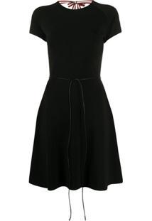 Bally Vestido Com Amarração Posterior - Preto