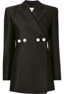 Akira Naka Button Embellished Blazer - Preto