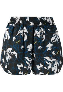 Marcelo Burlon County Of Milan County Flowers Printed Shorts - Preto
