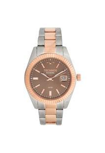 Relógio Technos Feminino Riviera Analógico Dourado 2115Kts3M