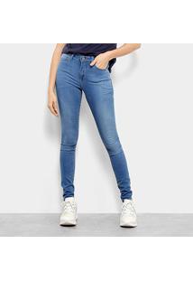 Calça Jeans Skinny Calvin Klein Five Pockets Feminina - Feminino-Azul Claro