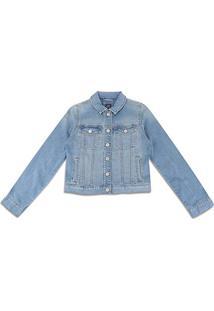 Jaqueta Jeans Gap Classic Feminina - Feminino-Azul