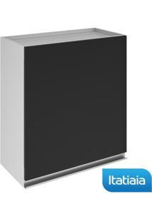 Módulo Cozinha Aéreo Clarice 1 Porta - Ip1-60 - Preto - Aço - Itatiaia