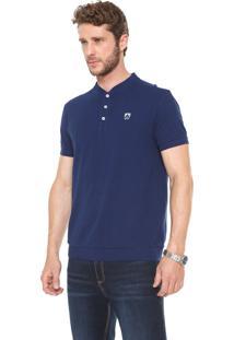 Camisa Polo Mr Kitsch Reta Lisa Azul-Marinho