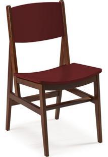 Cadeira Dumon 87 Cm 951 Cacau/Bordo - Maxima