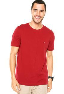 Camiseta Tommy Hilfiger Redonda Vinho