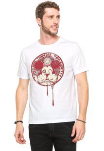Camiseta Cavalera Mickey Fuckoff Branca