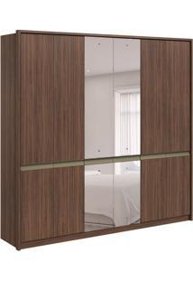 Guarda-Roupa Casal Com Espelho Urban 6 Pt 6 Gv Imbuia