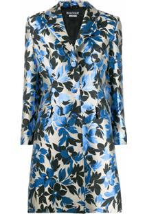 Boutique Moschino Blazer Com Estampa Floral - Azul