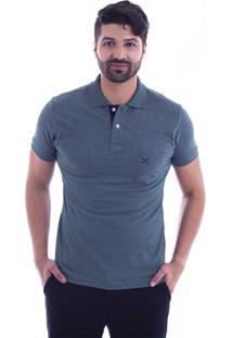 Camisa Polo Live Lifestyle Com Bolso Verde Militar 405-09