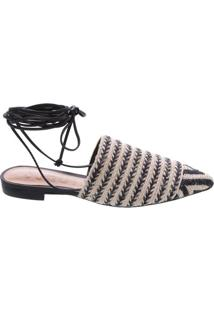 Sapatilha Black Lace Up Natural | Schutz