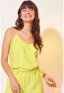 Blusa Amarela Cropped