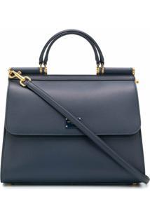 Dolce & Gabbana Bolsa Tote Sicily 58 Grande - Azul