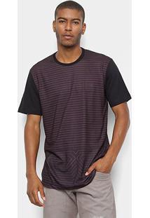 Camiseta Mcd Especial Listras Masculina - Masculino-Vinho