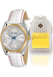 Kit Relógio Feminino Mondaine Com Mochila Vintage