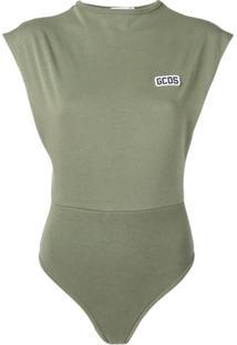 Gcds Body Com Logo Bordado - Verde