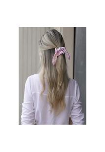 Laço De Tecido Tie Dye Rosa Diver