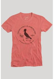 Camiseta Carimbo Gaze Reserva Masculina - Masculino-Coral