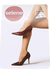 Meia Calça Selene Clássica Fio 15 Feminina - Feminino-Bege