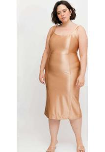 Vestido Midi Almaria Plus Size Tal Qual Com Fenda