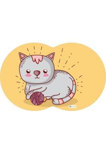 Tapete Pet Gato Amarelo 55X35Cm