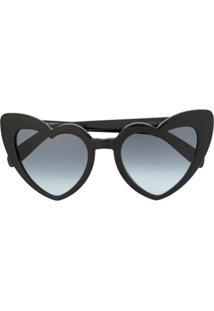 Saint Laurent Eyewear Óculos De Sol 'Sl181 Lou Lou' - Preto