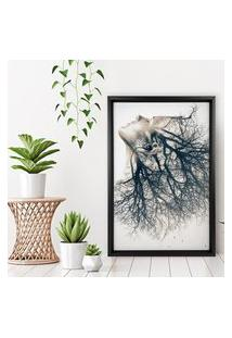 Quadro Love Decor Com Moldura Chanfrada Woman Element Preto - Médio