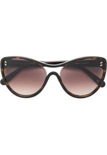06e068255 R$ 1460,00. Farfetch Óculos De Sol Kj Oversized Stella Mccartney Feminino  ...