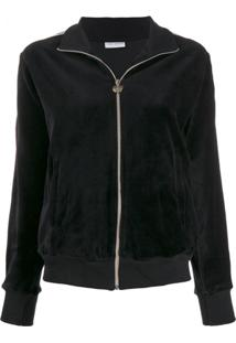 Chiara Ferragni Plain Zipped Jacket - Preto