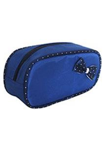 Necessaire Oval Diamante - Azul - Apparatos