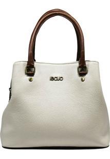 Bolsa De Couro Recuo Fashion Bag Baú Cacau/Telha