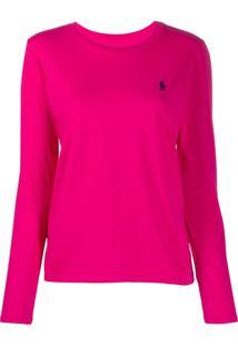 Polo Ralph Lauren Camiseta Mangas Longas - Rosa