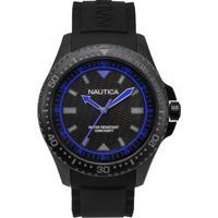 b0da8774999 Relógio Nautica Masculino Borracha Preta - Napmau007 Vivara