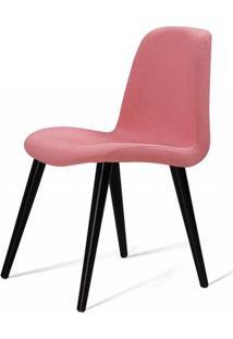 Cadeira Estofada Jacob Rosa Pes Palito Preto - 49522 Sun House