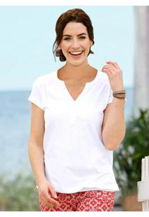 Blusa Básica Barra Elástica Branco