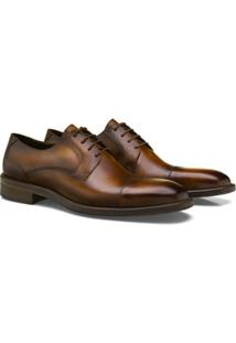 Sapato Social Brogan Derby Lauder Masculino - Masculino-Marrom