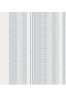 Papel De Parede Listras Azul E Branco (1000X52)