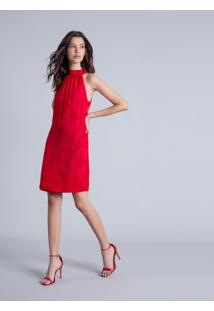 Vestido Gola Alta Estampa Berverly - Lez A Lez