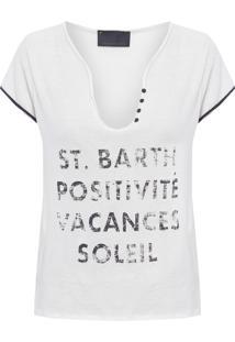 Camiseta Feminina Posli - Off White