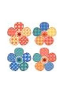 Adesivo De Parede - Flores Patchwork - 221In-G