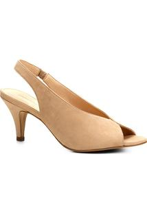 4cf29628f0 Peep Toe Bege feminino